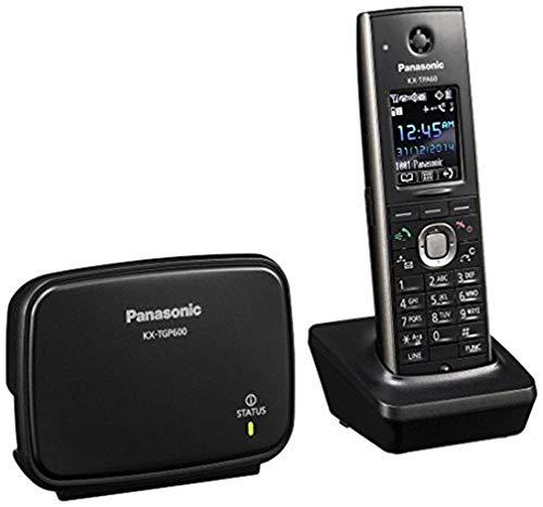 Panasonic KX-TGP600 - Teléfono IP (Negro, Terminal inalámbrico, LCD, 4,57 cm (1.8'), 500 entradas, 1.88-1.90 GHz) [versión importada]