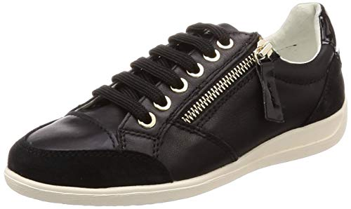 Geox Mädchen D Myria B Sneaker, Schwarz (Black C9999), 35 EU
