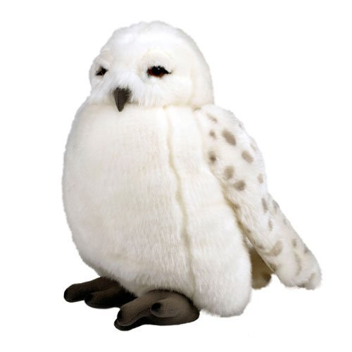 Button On Wing Activate Owl Noise - Wizarding World of Harry Potter Hedwig Owl Plush Puppet with Sound