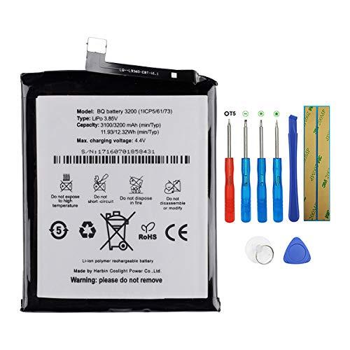 SWARK BQ 3200 - Batería compatible con teléfono móvil BQ Aquaris X5 Plus