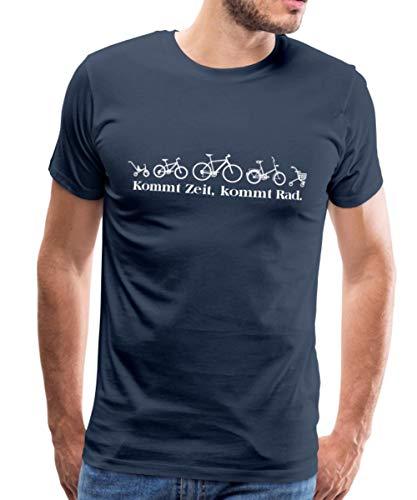 Dreirad Fahrrad Rollator Kommt Zeit Kommt Rad Männer Premium T-Shirt, XL, Navy