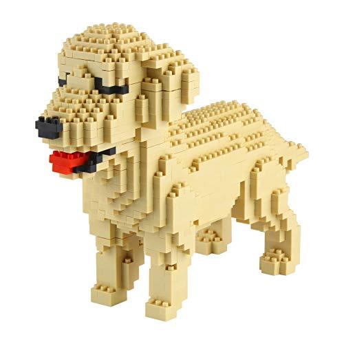 Larcele Micro Dog Building Blocks Pet Mini Building Toy Bricks,950 Pieces KLJM-02 (Golden Retriever)