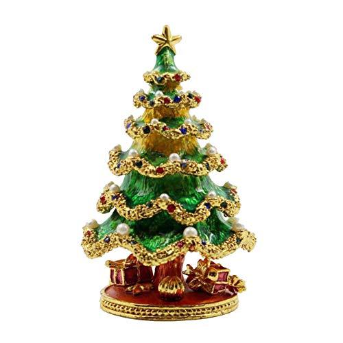 HM&DX Weihnachtsbaum Schmuckkästchen Aufbewahrungskoffer Home Dekoration Kosmetikkoffer Für Geschenk Ringe Halskette Ohrringe -A