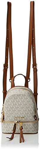 Michael Kors Damen Rhea Zip XS MSGR Backpack, Weiß (Vanilla), 7x20x18 cm