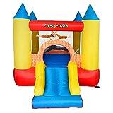 PLAY4FUN Castillo Hinchable : Castle Bouncer - con tobogán-Superficie 280 x 210 x 185 cm-inflador y Mochila
