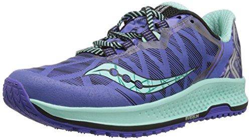 Saucony KOA TR, Zapatillas de Trail-Running para Mujer, Violet/Aqua, 41 EU