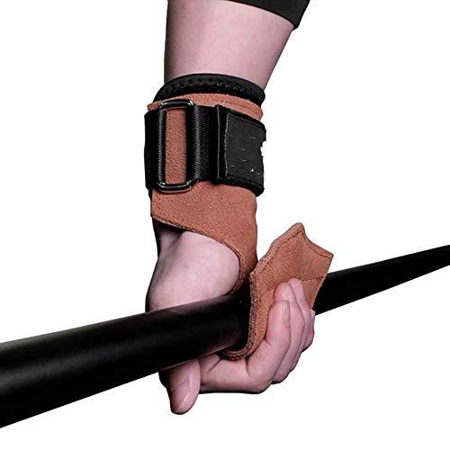 FICI 1 paar Fitness grips pads Ondersteuning Antislip Duurzame handgrepen Pad Polsbeschermer Wikkelriem Handschoenen Gymgereedschap