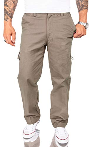 Rock Creek H-194 - Pantalones chinos para hombre, con bolsillos laterales Arena...