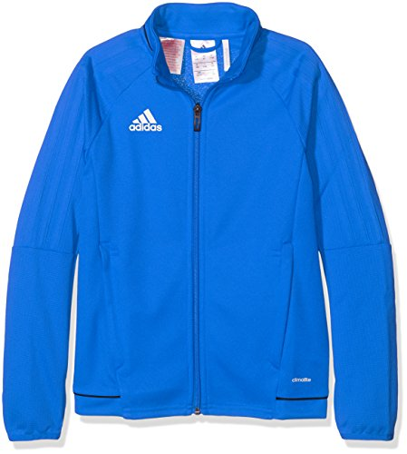 adidas Kinder Tiro 17 Jacke, Blue/Collegiate Navy/White, 128