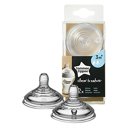 Tommee Tippee Closer to Nature Tettarelle, Flusso Medio (2 Pezzi)