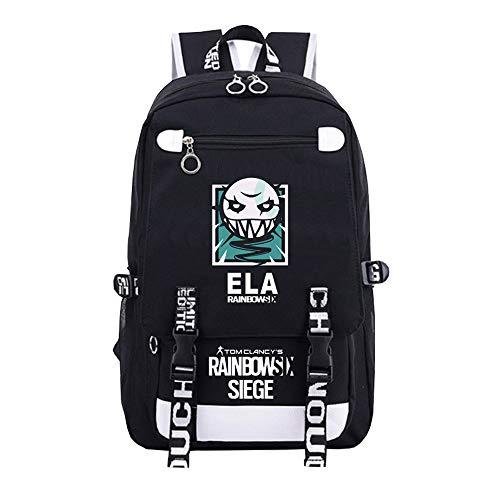Canvas Printing Men Backpack Game Rainbow Six Siege Backpack Six Siege Unisex Student Laptop School Shoulder Bag
