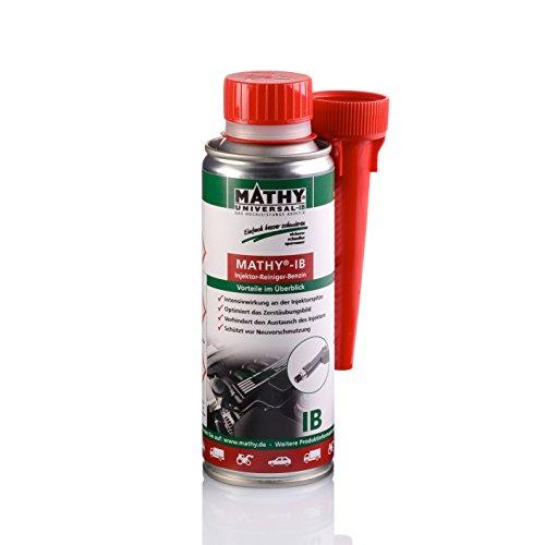 MATHY-IB Benzin Injektor Reiniger, 200 ml - Benzin Additiv - Reinigung Einspritzdüsen - Injektorpflege - Kraftstoffzusatz Benzin Motoren - Einfache Anwendung über den Tank - Kraftstoffadditiv