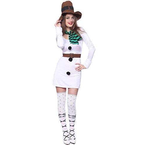 maboobie déguisement COSTUME TENUE NOEL pere mere neige bonhomme femme fille carnaval avec echarpe ceinture chapeau taille uniuqe elastique