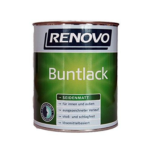 Renovo Bunt-Lack seidenmatt in schwarz 2,5 l für innen und außen