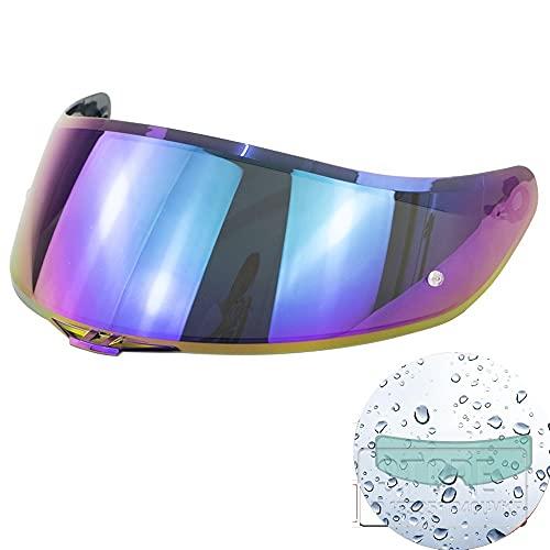 Moto Casco Visor Lens Full Face Motoccycle Helmet Visors Accesorios para AGV K1 K3SV K5 Capacete Revo Lens Shield (Color : New Rainbow)
