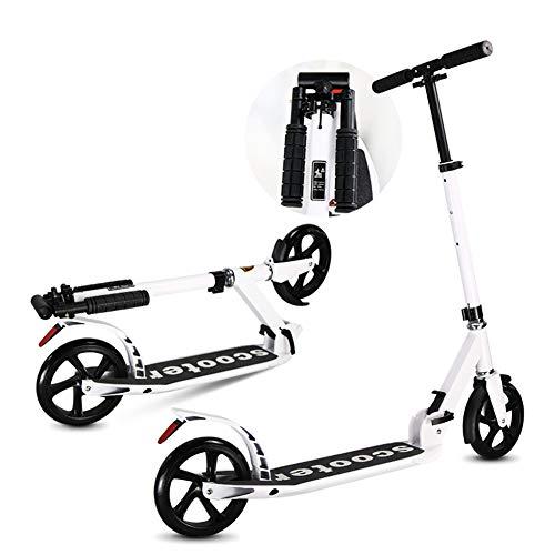 Patinetes Scooter Ligero y Plegable para Adultos, portátil City Big Wheels Commuter Scooters, Regalos de cumpleaños para niños de 8 años en adelante, niños niñas, 100kg de Apoyo, no eléctricos