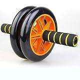 Rueda doble Glide, duradera Abs para ejercicio, entrenador de músculos abdominales antideslizantes, para la parte superior del cuerpo (ABS/pecho, devolución, hombros, brazos).