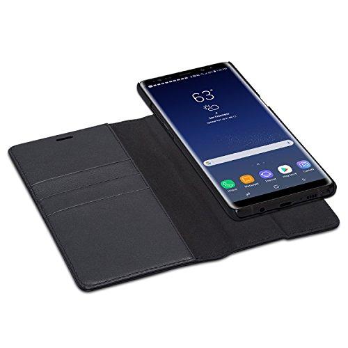 CASEZA Galaxy Note 8 2 in 1 Kunstleder Case Hülle Zurich schwarz PU Lederhülle Ledertasche Flip Cover Leder Tasche für Original Samsung Galaxy Note 8 - Wallet Case mit abnehmbarem Backcover