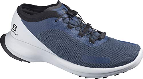 Salomon Sense Feel, Zapatillas de Trail Running Hombre, Color: Azul (Dark Denim/Pearl Blue/Black), 41 1/3 EU