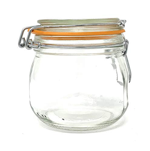 Glass Canning Jar with Hinged Lid