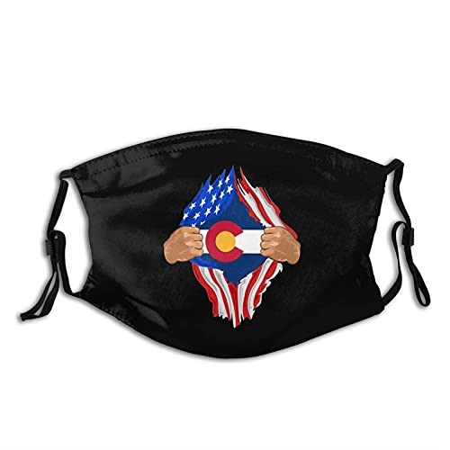 zesingmg Colorado Blood Inside Me Face Mask - Easily Washable and Reusable Mask - Each Mask Comes with 2 Filters
