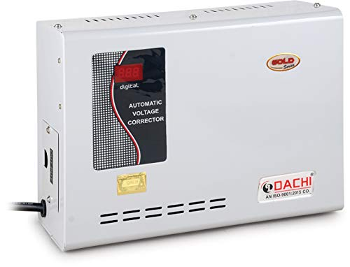 DACHI 4 KVA 100% Copper Voltage STABILIZER Upto 1.5 TON AC from Working Range 80V-280V (Suitable for Both Inverter & Non-Inverter AC Either Split OR Window) Single Phase