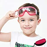 Child Safety Goggles Kids Safety Glasses Anti-fog Prevent Droplets Anti Spittle Impact Ballistic Resistant Lens Adjustable Strap for 5-12 Years Old Boy Girl with Safety Glasses Case(Pink)