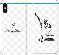 【全機種対応】 サッカー iPhone Xperia Galaxy 楽天Mobile UQ Yモバ Android Android シルエット スマホケース 手帳型 カバー(落書き:マドリッド/4番_03) 03 iPhone6/6s
