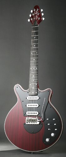 Brian May Especial - Guitarra eléctrica retro, color rojo c