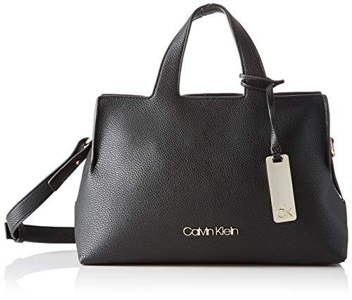 Calvin Klein Neat F19 Med Tote - Borse a tracolla Donna, Nero (Black), 1x1x1 cm (W x H L)