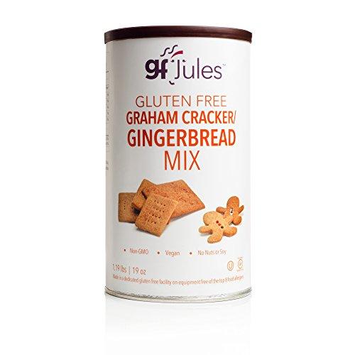 gfJules Graham Cracker - Gingerbread Mix, Certified Gluten Free, Top 8 Allergen Free, Kosher, 19oz Can