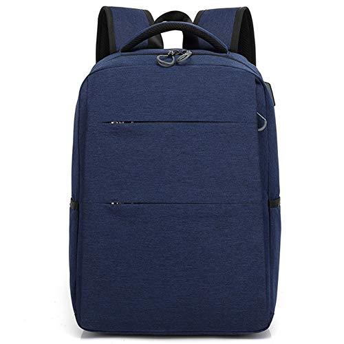 Moligh doll Backpack Men's Shoulders Travel Bag Casual Female Student School Bag Simple Computer Bag Blue
