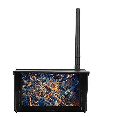 Monitor Ricevitore FPV, 5.8G 4.3 Pollici 48 canali 480 x 22 Monitor FPV LCD Ricerca Automatica Monitor Ricevitore Wireless Batteria Integrata con Display OSD Indicatore Batteria per Drone