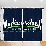 HONGYANW Cortinas Opacas Personalizadas Hongyang Billy Madison Radisson Hotels, con Ojales Mezclados, Aislamiento térmico, para Dormitorio, Sala de Estar, 52 x 72 Pulgadas, 2 Paneles