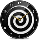 Reloj De Pared Redondo Número De Manos Acrílico 9.5 En Numeral Romano Espiral Romano para El Hogar, Oficina, Cocina, Baño (Color : Spiral Illusion, Talla : 11.9x11.9in)