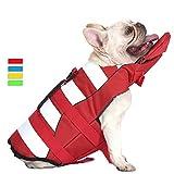 French Bulldog Dog Life Jacket, Pet Life Vest Small Medium Large Doggy Swimsuit for Swim, Pool, Beach, Boating