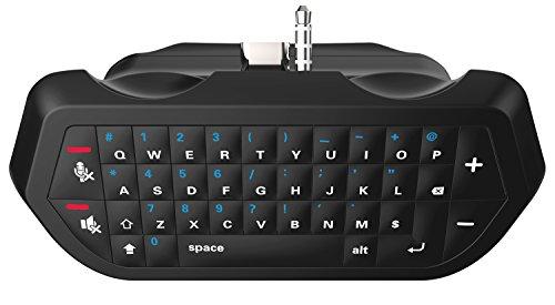 Slank PS4- en PS4-chatpad - Bluetooth-audio en draadloos toetsenbord Bericht Chatpad maakt verbinding met draadloze PS4-controllers / Dualshock - (zwart)