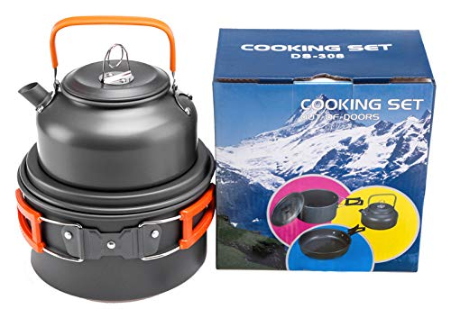 Outdoor producten Camping theepot Set Pot Combinatie Aluminium Pot Draagbare Picknick Pot Set