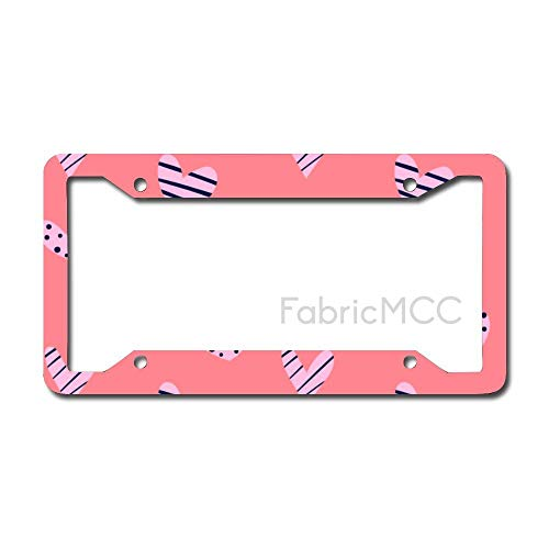 daoyiqi License Plate Frame Peach Wrapping Paper Metal Tag Border US Size 12 x 6 Inches Auto License Plate Holder