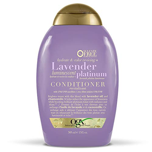 OGX Hydrate & Color Reviving + Lavender Luminescent Platinum Conditioner, 13 Ounce