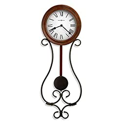 Howard Miller Yvonne Wall Clock 625-400 – Wrought Iron with Quartz Movement