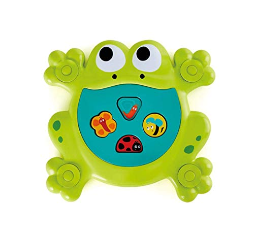 Hape International Feed-Me Bath Frog Juguete de Baño Rana Hambrienta, Multicolor, Talla única (E0209)