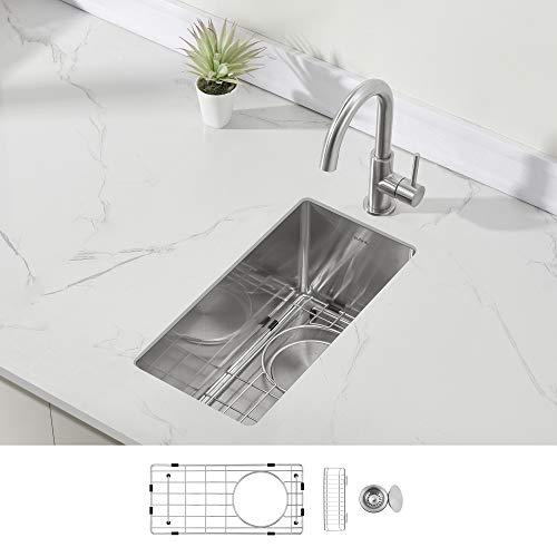 Modena Undermount Bar and RV Sink, 16-Gauge Stainless Steel (10 x 18 Trough)