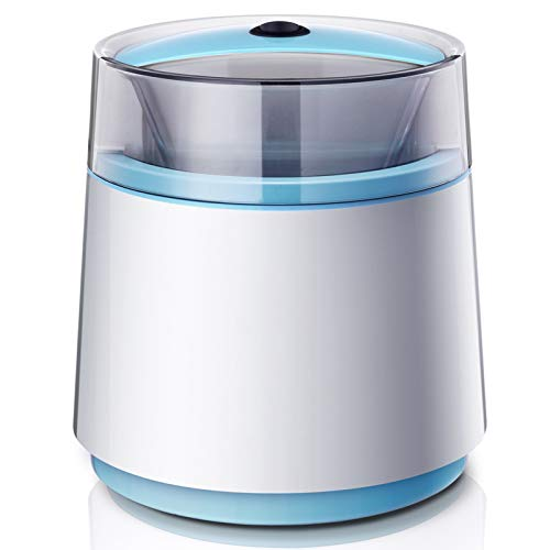 Pequeño hogar La máquina de helado de diseño humanizado, máquina de helado de ahorro de tiempo y ahorro de energía adopta un aislamiento de doble capa y diseño de líquido congelado, adecuado para fami