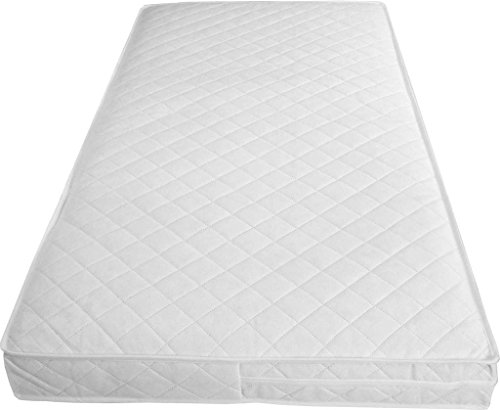 NTT Super Soft Cosy Foam Cot Bed Mattresses with Waterproof Quilted Washable Cover and Thicknesses Available (117 x 54 x 10 cms)