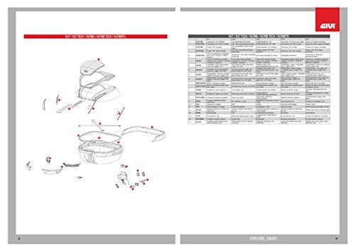 Givi Z4701A900R Kofferumrandung Komplett, Schwarz, 40