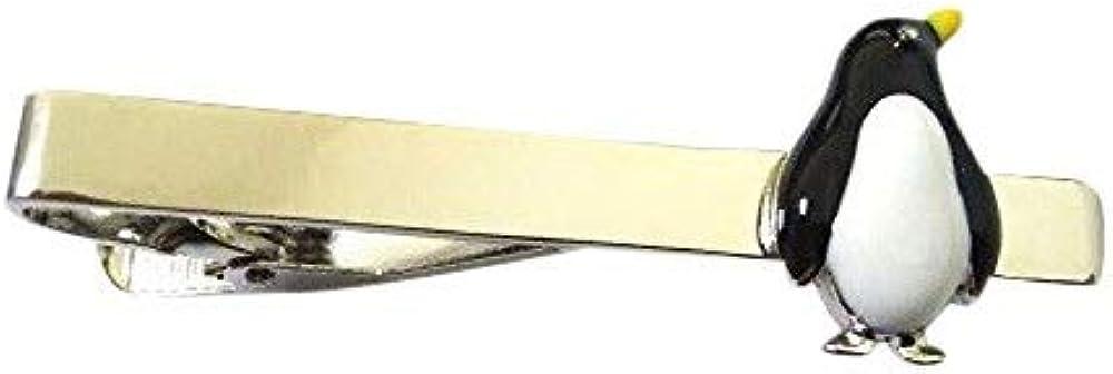 Procuffs Penguin Animal Black White Winter Tie Clip Black Wedding Bar Clasp
