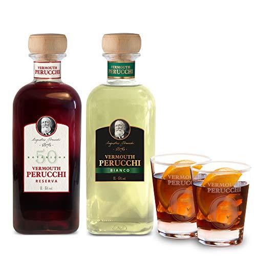 Pack Vermouth Perucchi Reserva + Vermouth Perucchi Bianco + 2 vasos –...