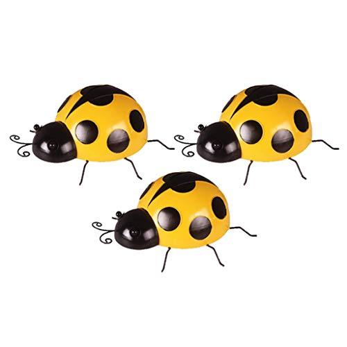 B Blesiya 3Pcs Mini Metal Ladybug Fence Hanger para Colgar En La...