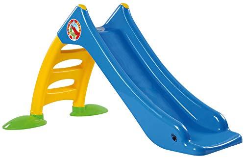 Dohany 2in1 Kinderrutsche Wasserrutsche freistehend Rutschbahn Rutschlänge 120cm blau/gelb